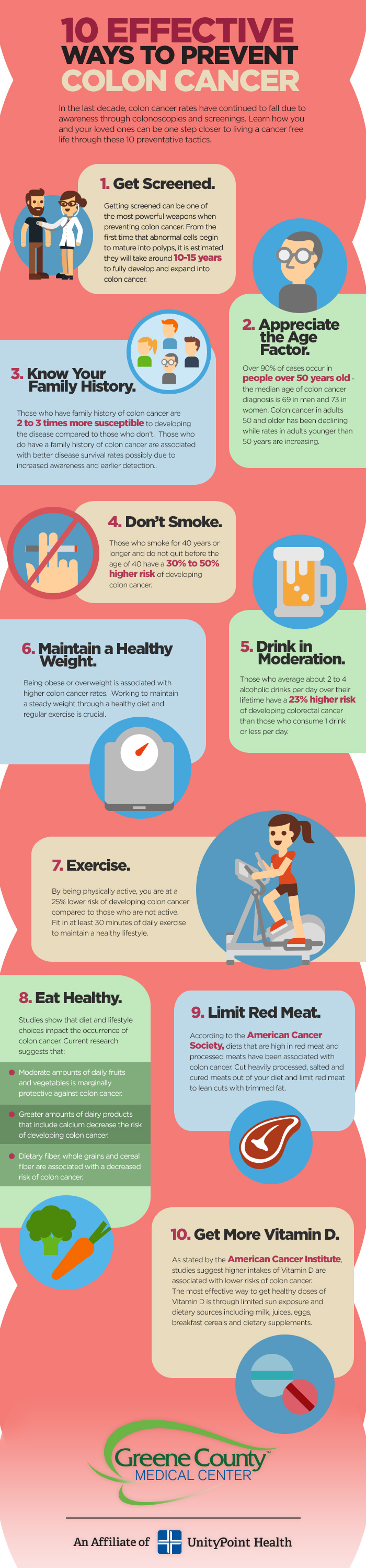 10 Effective Ways To Prevent Colon Cancer Infographic